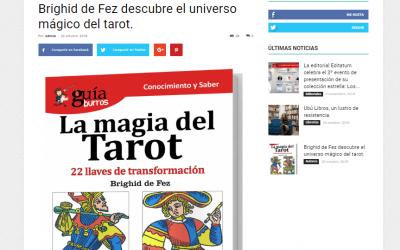 El GuíaBurros: La magia del Tarot, de Brighid de Fez, en el medio especializado Casa de Letras